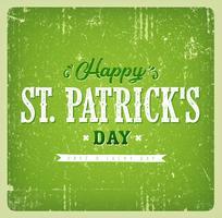 Cartão do vintage do dia de St Patrick feliz