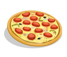 Pizza de calabresa vetor