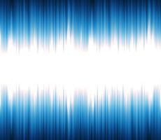 Som abstrato ou onda de luz oscilante