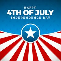 Projeto do dia da independência, férias em Estados Unidos da América, vetor