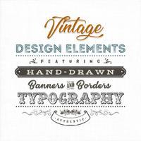 Sinal de rótulo vintage na textura da tela vetor