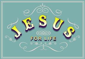 letras de jesus vetor