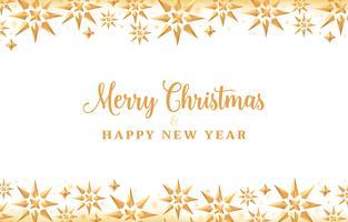Fundo de Natal com estrelas de cristal de ouro, design de férias vetor