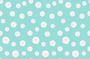 pegadas de gato sem costura de fundo. design para travesseiro, impressão, moda, roupas, tecido, embrulho. modelo de maquete máscara rosto padrão sem emenda. vetor. vetor