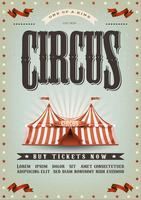 Design de cartaz de circo vetor