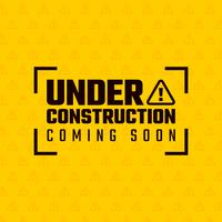 Sob o projeto de construção, conceito de desenvolvimento de site, ilustração