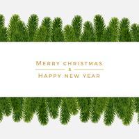 Fundo de abeto de Natal, olhar realista, projeto de férias vetor