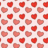 mão desenhada coração padrão sem emenda. ilustração vetorial em estilo de desenho vetor
