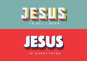 letras de jesus 5 vetor