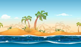 Paisagem de praia tropical sem costura