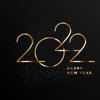 banner cartão de saudação de feliz ano novo 2022 vetor