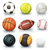 Conjunto de bolas esportivas vetor