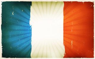 Vindima, bandeira francesa, cartaz, fundo vetor