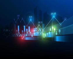 finanças mundo mercado de ações gráfico ilustração negócios investimento conceito símbolo e negociação de ações vetor