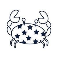 ícone de animal marinho caranguejo vetor