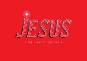 jesus lettring 7 vetor