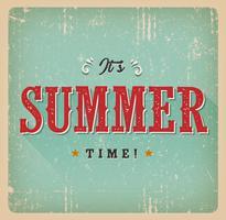 É o cartão retro do horário de verão vetor
