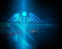 símbolo abstrato modelo de saúde e inovação médica e ilustração do conceito vetor