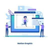 conceito gráfico de movimento design plano vetor