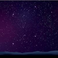 paisagem de céu roxo estrelado vetor