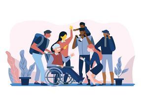 Comunidades Multiculturais vetor