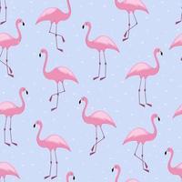 flamingo sem costura padrão com design de fundo de vetor de corações para tecido e decoração