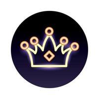 luzes de néon reais da coroa da rainha vetor