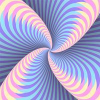 Fundo de ilusão de movimento circular de redemoinho de cor holográfica
