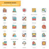 Site e conjunto de ícones de aplicativo móvel