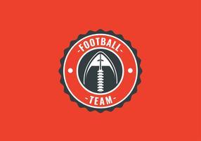 Vetor de bola de emblema de futebol americano