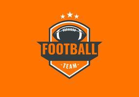 Bola laranja de emblema de futebol americano vetor