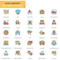 Conjunto de ícones de serviços do hotel