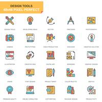 Conjunto de ícones de ferramentas de design vetor