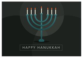 Vela de Hanukkah feliz vetor