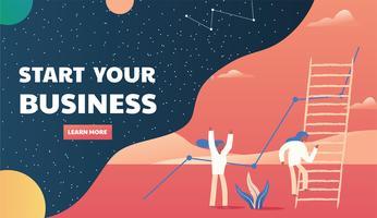 Design de vetor de layout de apresentação de negócios