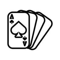 cartas de pôquer de cassino com espadas vetor