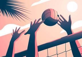 Férias de verão de voleibol de praia vetor