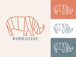Vetores de animais de forma geométrica simples pendentes