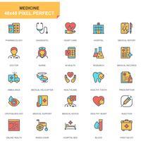 Conjunto de ícones de cuidados de saúde e medicina