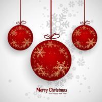 Linda bola de Natal feliz fundo decorativo vetor