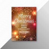 Belo festival feliz Natal modelo de design de folheto vetor