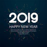 Belo feliz ano novo 2019 projeto de texto vetor
