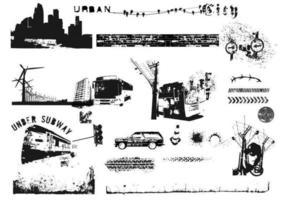 Pacote vetorial da cidade urbana vetor