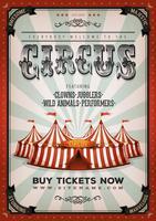 Fundo de circo vintage vetor