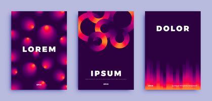 Design de capa, fundo gradientes criativos