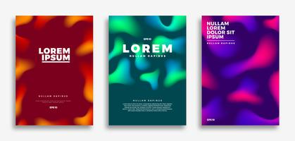 Design de capa, fundo gradientes criativos vetor