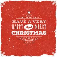 Feliz Natal Cartão Postal vetor