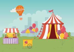 diversão feira carnaval barraca barraca sorvete comida cidade recreação entretenimento vetor