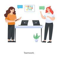 projeto de trabalho em equipe vetor