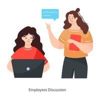 conceito de discussão de funcionários vetor